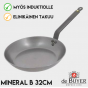 Hiiliteräspannu de Buyer Mineral B Element 32cm